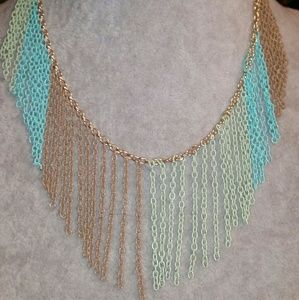 Jewelry - Ombre Fringe Chain of Colors Mermaid Necklace